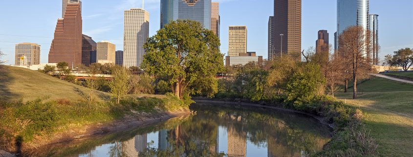 Houston Skyline with Buffalo Bayou