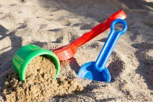 Sand toys in sandbox