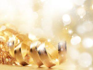 Sparkly golden ribbon