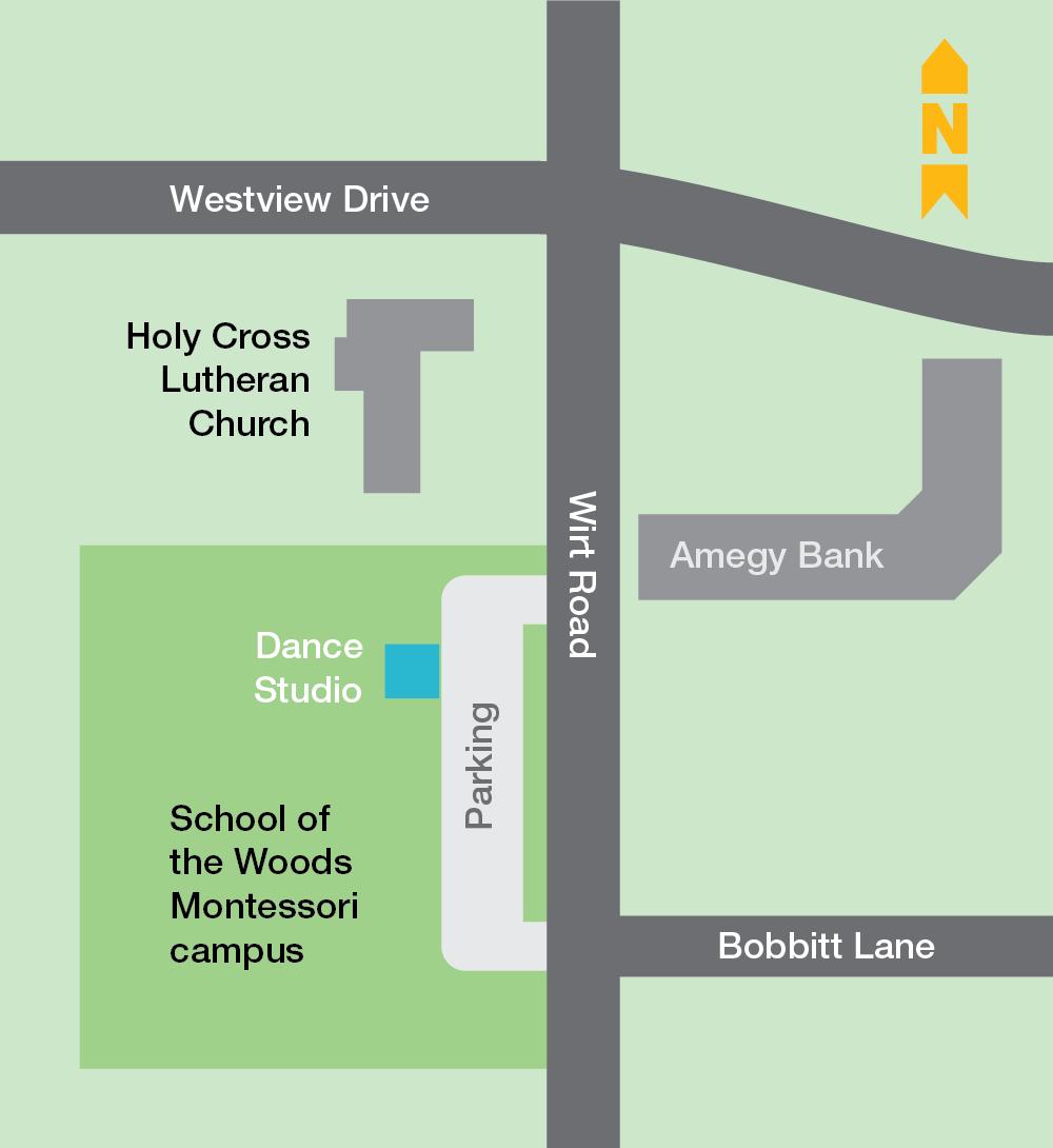 School of the Woods map