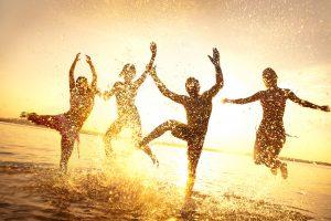 Summer celebration on the beach